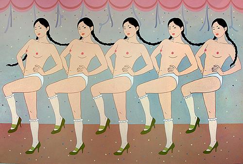 """Sweet dance"", 2009, acrílica sobre tela, 130 x 194 cm"