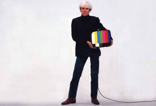 Andy Warhol in TDK advertisement, 1983. Private Colletion
