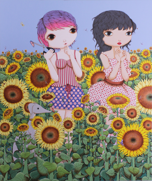 "Nina Pandolfo ""Sem medo de ser feliz"" Acrílica sobre tela_acrylic_on_canvas_190_x_160_cm_80"