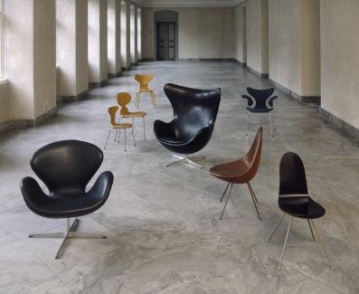 O Ovo, 1958, Designer_Arne Jacobsen, Materiais_Poliuretano, espuma de látex, alumínio, têxtil_Fabricante_Fritz Hansen,© Designmuseum Danmark, Foto_Pernille Klemp