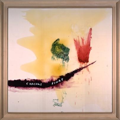 Julian Schnabel, Cha Chas Finas 1996, óleo, resina sobre tela, 243,8 x 243,8 cm