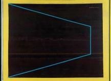 Montez Magno, Além do Horizonte,1972 Oleo e esmalte sobre lona curtida 160x200cm