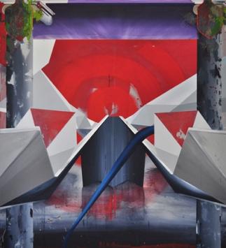 Limiar_Willian Santos_In  transitu_acrílica, encáustica e óleo sobre tela_190 x 170 cm_2014