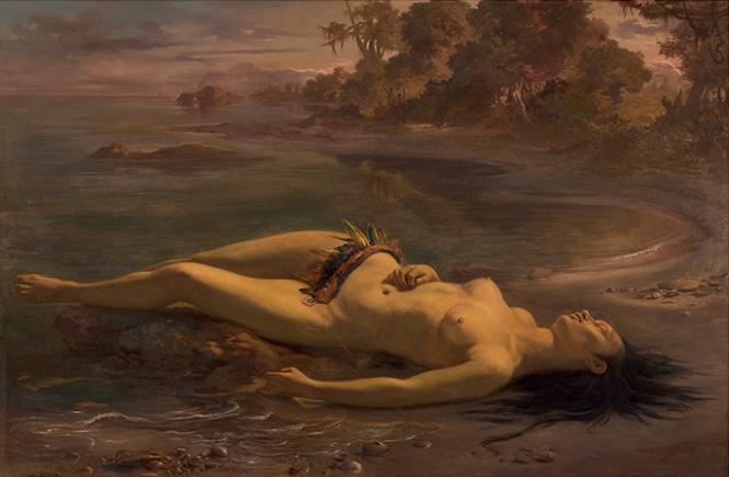 """A obra de Victor Meirelles, Moema (1866), está na exposição """"Arte do Brasil até 1900"""", no MASP"""