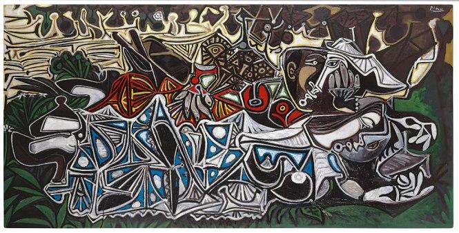 Mujer con sombrero sentada en un sillón (Femme au chapeau assise dans un fauteuil), Pablo Picasso, Óleo sobre linho, 130,5 x 97,5 cm, 1941-42, Kunstmuseum Basel, adquirido com um aporte da Fundación Max Geldner e uma contribuição extraordinária do governo em 1967, © Sucesión Pablo Picasso, VEGAP, Madrid, 2015