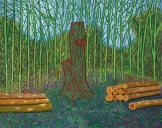 David Hockney, Arranged Felled Trees (2008). Foto: Sotheby's