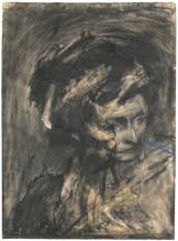 Frank Auerbach, Head of Gerda Bohm (1961). Foto: Sotheby's