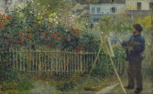 Auguste Renoir. Monet Painting in His Garden at Argenteuil, 1873
