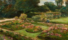 Max Liebermann. Flower Terrace in the Garden, Wannsee, 1915