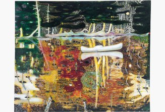 Peter Doig, Swamped (1990). Foto: Christie's